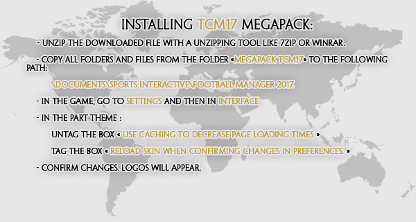 football manager tcm17 logo megapack Instructions