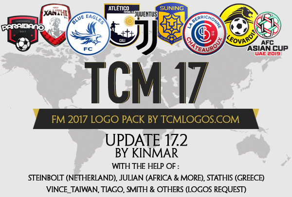 Football Manager 2017 tcm logo megapack & graphics
