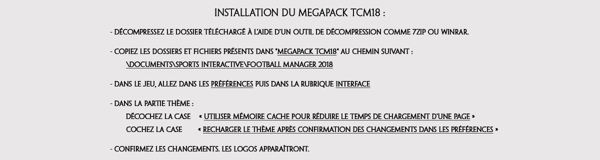TCM18 Installation FR